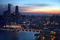 Bahía del puerto deportivo, Singapur Fotografía de archivo libre de regalías