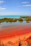 Bahía del Roebuck, Broome, Australia Imágenes de archivo libres de regalías