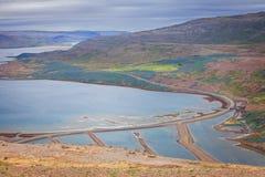 Bahía del sello, de Westfjords, Islandia fotos de archivo