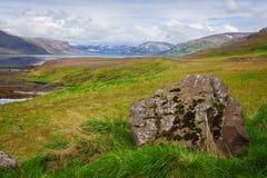 Bahía del sello, de Westfjords, Islandia fotografía de archivo