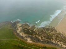 Bahía del soporte de San Miguel, Cornualles, Inglaterra, imagen de archivo