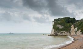 Bahía del St Margarets Cliffe, Kent England Imágenes de archivo libres de regalías
