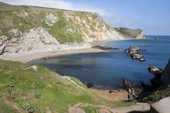 Bahía del St Oswalds cerca de la puerta de Durdle, Dorset Imagen de archivo