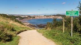Bahía del sur de Scarborough, North Yorkshire, Reino Unido foto de archivo libre de regalías