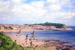 Bahía del sur de Scarborough, Yorkshire. fotografía de archivo libre de regalías