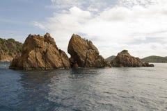 Bahía del tronco en St John Imagen de archivo