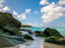 Bahía del tronco, St Johns, U S Islas Vírgenes Fotografía de archivo