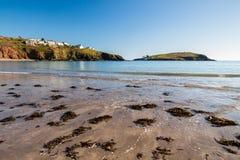 Bahía Devon England de Challaborough imagenes de archivo
