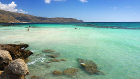 Bahía Elafonisi del paraíso Fotos de archivo libres de regalías