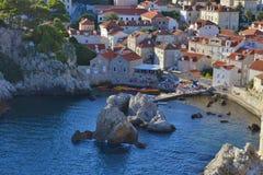 Bahía en Dubrovnik Croacia Fotografía de archivo