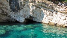 Bahía en el mar Mediterráneo Imagenes de archivo