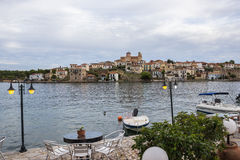Bahía en Grecia Imágenes de archivo libres de regalías
