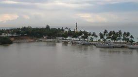 Bahía en la boca del río de Ozama Santo Domingo, República Dominicana metrajes