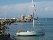 Bahía en la isla de Rodas Foto de archivo