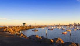 Bahía en la mañana Fotos de archivo libres de regalías