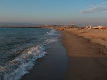 Bahía en la puesta del sol Imagen de archivo libre de regalías
