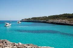 Bahía en Majorca Foto de archivo libre de regalías
