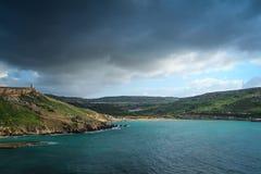 Bahía en Malta Imagen de archivo
