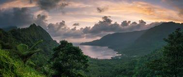 Bahía en South Pacific Foto de archivo libre de regalías
