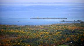 Bahía grande, color de la caída Foto de archivo
