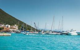 Bahía Grecia de Lefkada Foto de archivo