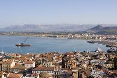 Bahía Grecia de Nafplio Imagen de archivo