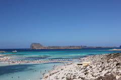 Bahía hermosa de Balos en Creta Fotografía de archivo libre de regalías