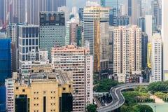 Bahía Hong Kong del terraplén Imagen de archivo