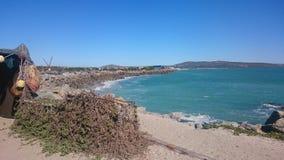 Bahía, laguna del mar del shipwreak fotos de archivo