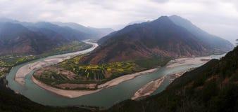 Bahía magnífica del río de Jinsha imagenes de archivo