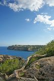 Bahía Majorca de Cala Santanyi Fotos de archivo