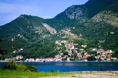 Bahía Montenegro de Kotor Fotos de archivo libres de regalías
