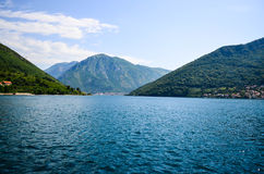 Bahía Montenegro de Kotor Imagen de archivo