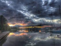 Bahía Oregon de Scappoose de la salida del sol Foto de archivo libre de regalías