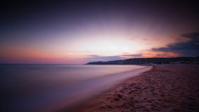 Bahía púrpura Foto de archivo