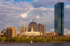 Bahía posterior Boston con los barcos Imágenes de archivo libres de regalías