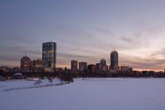 Bahía posterior de Boston hacia el centro de la ciudad Imagen de archivo