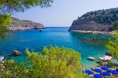 Bahía Rodas Grecia de Anthony Quinn Imagen de archivo libre de regalías