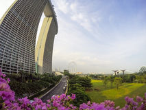 Bahía Singapur del puerto deportivo Foto de archivo libre de regalías
