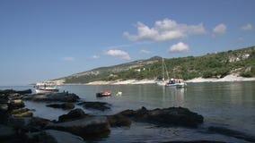 Bahía Thassos Grecia de Kemori almacen de metraje de vídeo