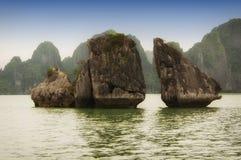 Bahía Vietnam de Halong fotografía de archivo libre de regalías