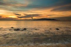 Bahía Vietnam de Nha Trang del cielo de la salida del sol Fotos de archivo libres de regalías