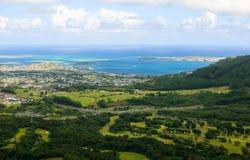Bahía y anillos, Oahu, Hawaii de Kaneohe fotografía de archivo
