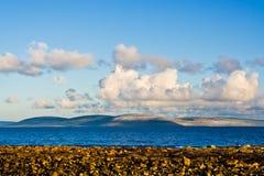 Bahía y Burren de Galway Foto de archivo libre de regalías