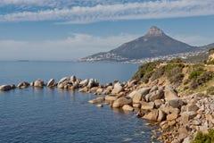 Bahía y leones Ciudad del Cabo principal Suráfrica de los campos Foto de archivo libre de regalías