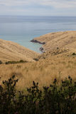 Bahías de la península de Akaroa Fotos de archivo