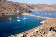 Bahías griegas escénicas Imagen de archivo