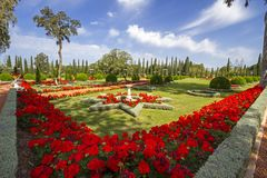 The Bahá'í Gardens in Acre Stock Photography