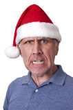 Bah Humbug Mean Man Santa Claus Hat Christmas Xmas Stock Photos