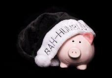 Bah humbug piggy bank Royalty Free Stock Images